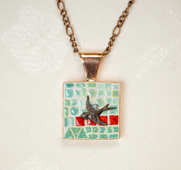 Swooping Bird Necklace by Luann Roberts Smith