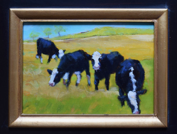 Quartet (Framed original) by Jane Varda