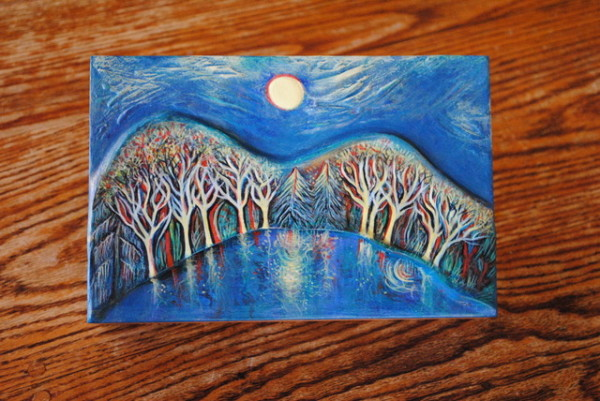 River Moonlight Box by Nancy Giffey