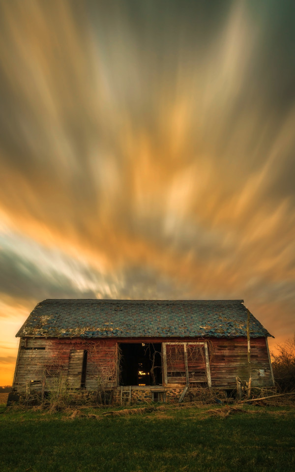Sunset Barn by Mike Murray