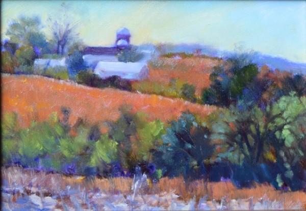 Soybean Fields on Kahl Road (Framed original) by Jane Varda