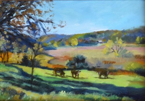 Spring Valley Morning (Framed original) by Jane Varda