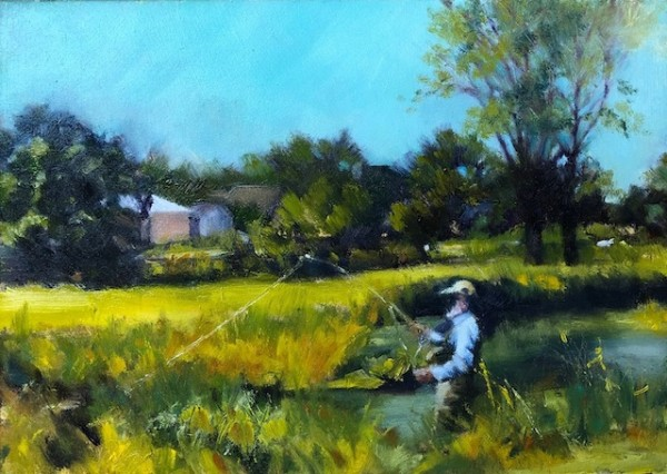 Trout Fishing on the Black Earth Creek by Jane Varda