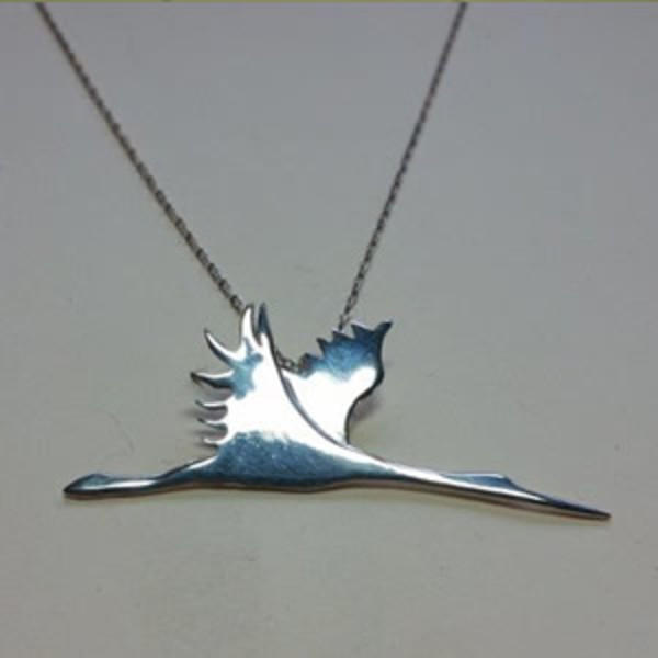 Flying Crane Necklace by Georgia Weithe