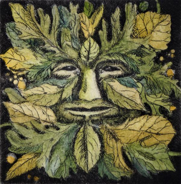 Green Man (Framed) by Julie Sutter-Blair