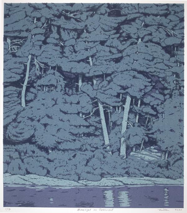 Moonlight on Basswood (Framed) by John Miller