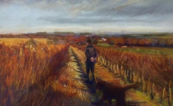 The Evening Walk (unframed print) by Jane Varda