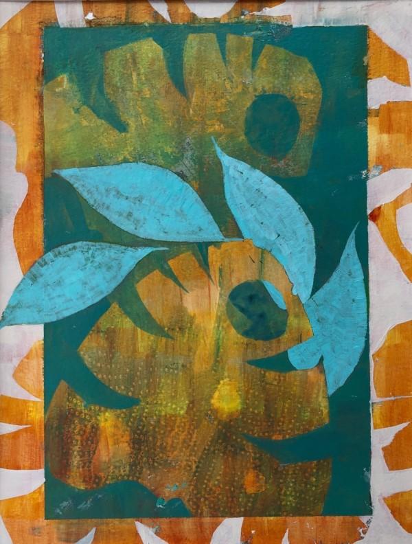 Laurels and Citrus Palm (Unframed, matted original) by Brit Borcher