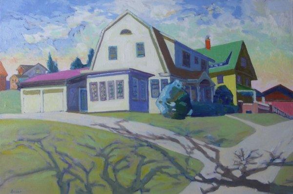 613 First Street, New Glarus, Wisconsin No. 2 (Framed original) by Chuck Bauer