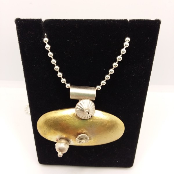 Oval Puff Pendant by Judi Werner