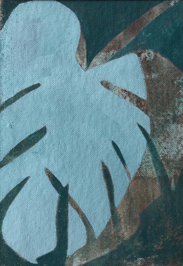 Palm Study 1 (Unframed, matted original) by Brit Borcher