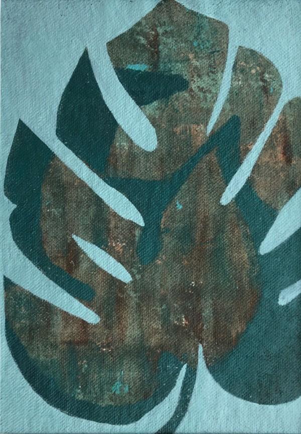 Palm Study 2 (Unframed, matted original) by Brit Borcher