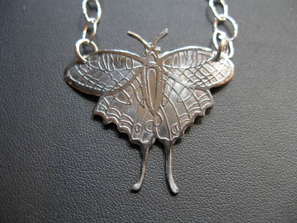 Silver Butterfly Necklace by Judi Werner