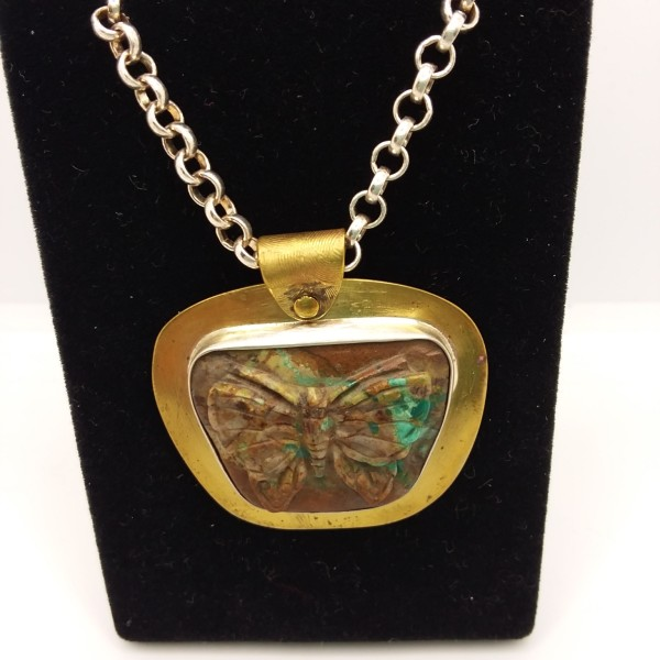 Turquoise Butterfly Necklace by Judi Werner