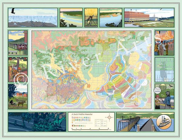 Sauk Prairie Meander Vignettes by John Miller for River Arts Inc by RACC
