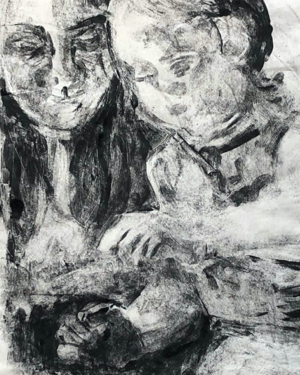 Mother and daughter #3 by CLARE SMITH