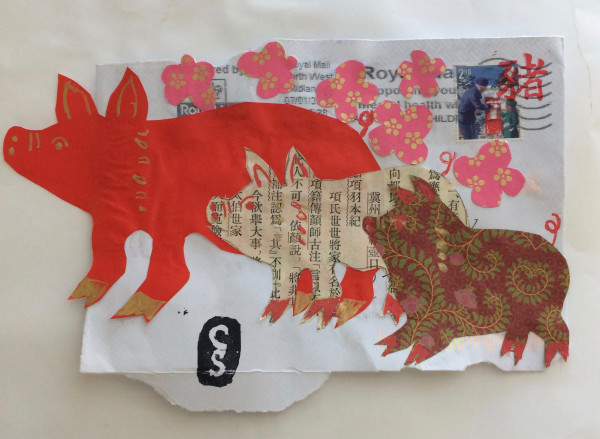 Chinese New Year Pigs by CLARE SMITH