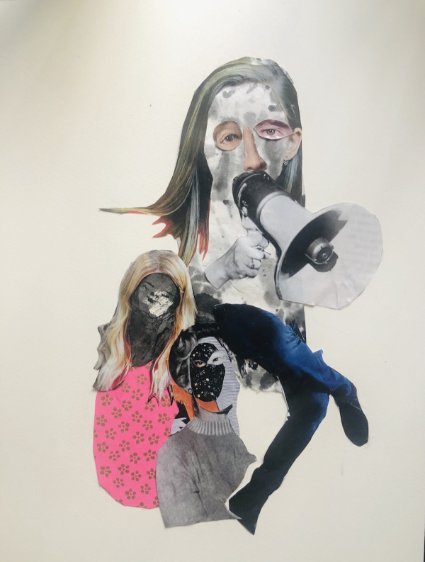 With megaphone by CLARE SMITH