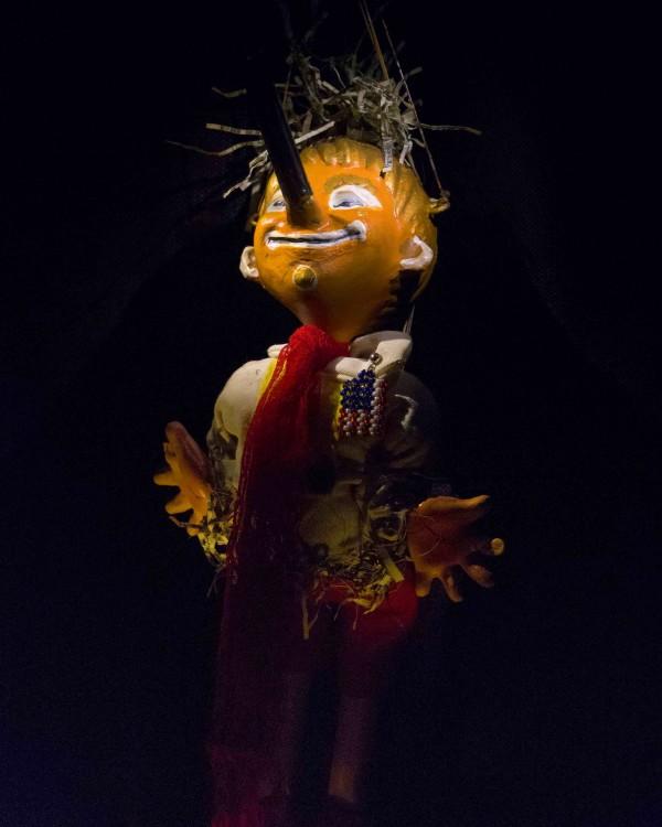 Pinocchio POTUS Puppet Portrait  by Gina M