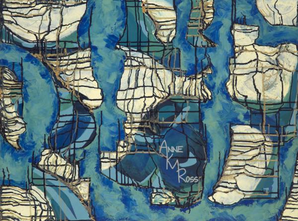 Figure Process in Blue by Anne KM Ross