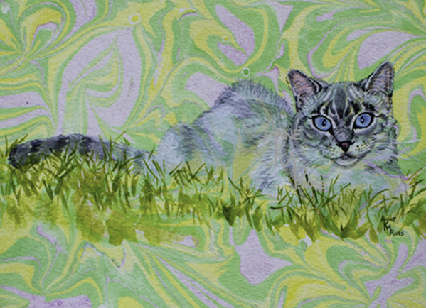 Pouncer on the Lawn by Anne KM Ross