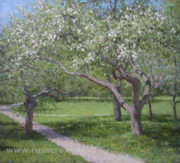 Apple Trees in Bloom by Vasily Hudyakov