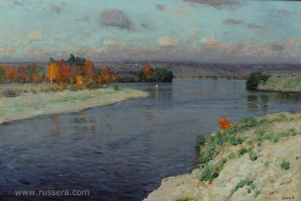 Autumn on the River Oka by Vasily Hudyakov