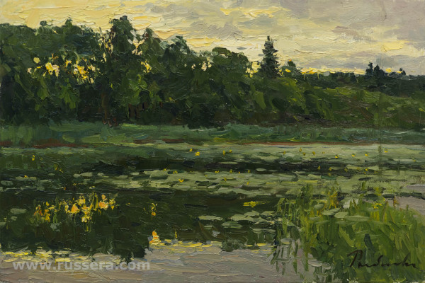 Creek. Evening ?size by Irina Rybakova