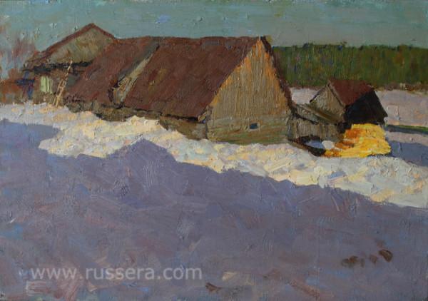 Evening in the Village Kyn by Vasily Hudyakov
