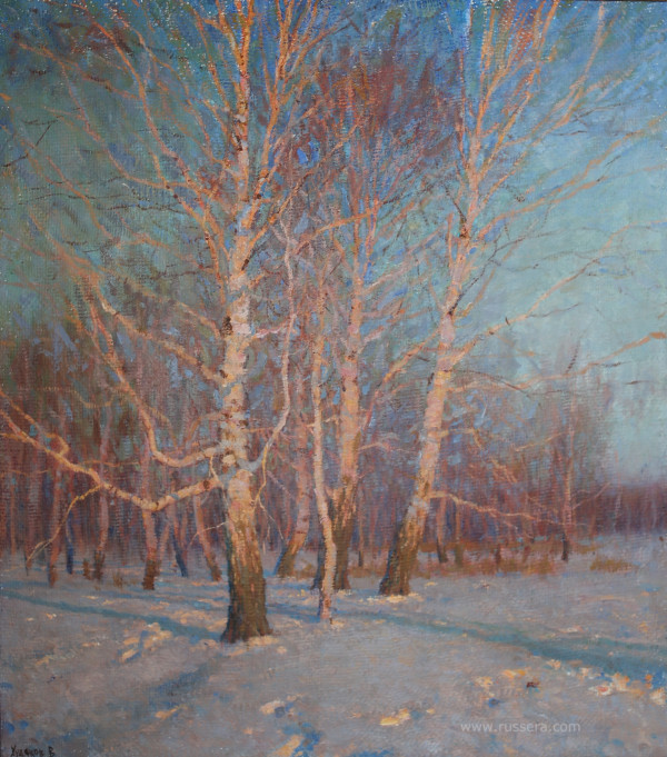 Frosty Evening by Vasily Hudyakov