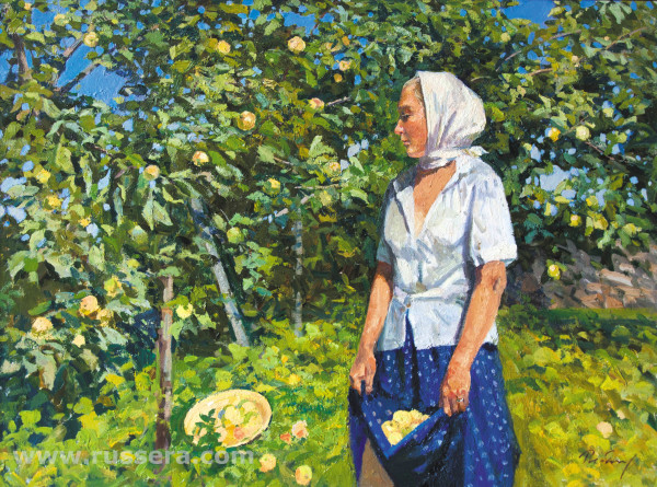 Grushovka (a kind of apple tree) by Irina Rybakova