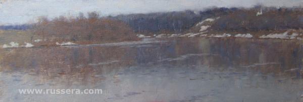 It's cloudy on the Oka River by Vasily Hudyakov