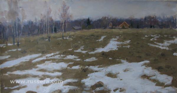 Last snow by Vasily Hudyakov