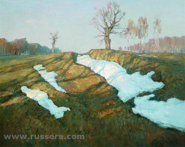 Last Snow by Sergey Nebesihin
