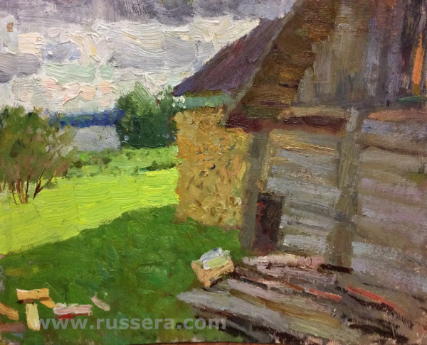 Morning. Barn by Vasily Hudyakov