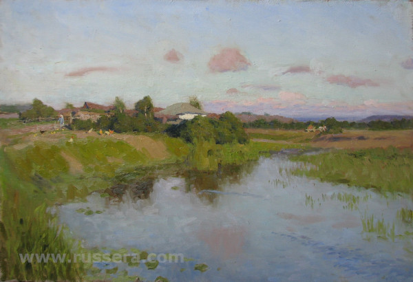 Summer evening by Vasily Hudyakov