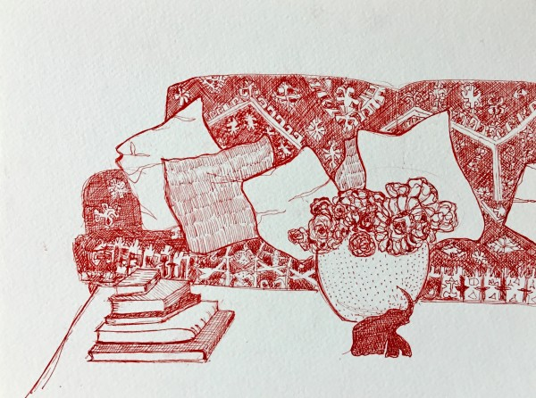 Red interior by Marina Marinopoulos