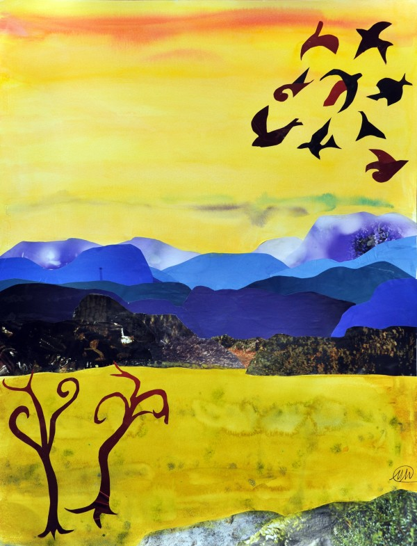 Imaginary landscape - yellow by Marina Marinopoulos