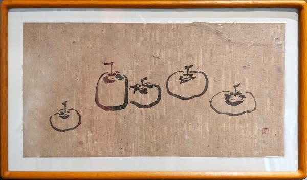 五柿圖 Five Persimmon by 白雨 Bai Yu