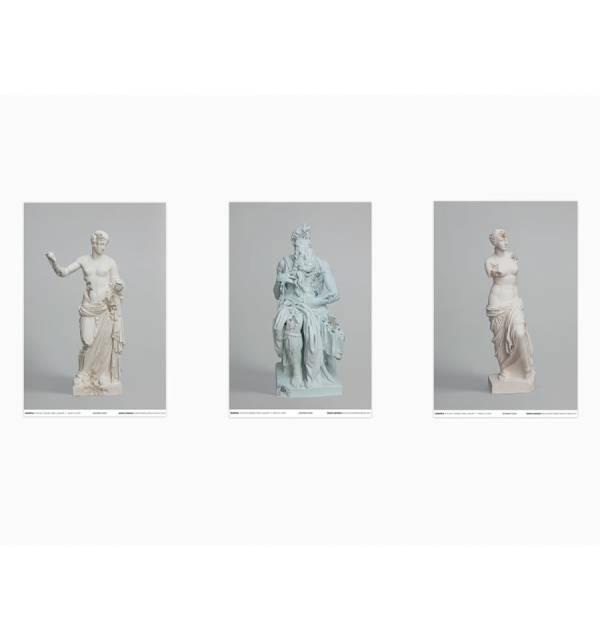 "丹尼爾.阿爾軒 海報三件組 Daniel Arsham - Set 3 posters ""3020"" (Venus of Milo, Venus of Arles, Moses) by 丹尼爾.阿爾軒 ARSHAM, Daniel"