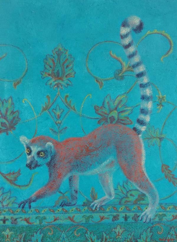Lisa Bohnwagner散步的狐猴