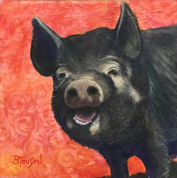 Happy Hog by Barbara Teusink