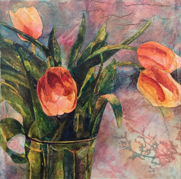 Textured Tulips by Barbara Teusink