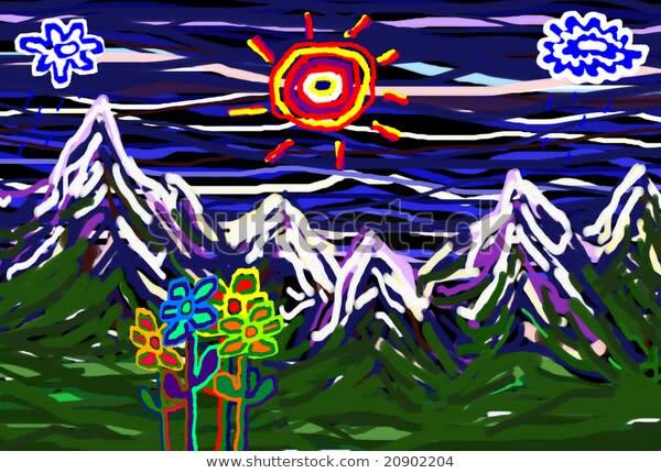 Child's Landscape by Bruce Rolff