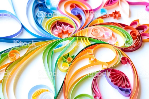 """""""Gokcemim"""" Multi Colored Paper Quilled Pattern by Unknown"""