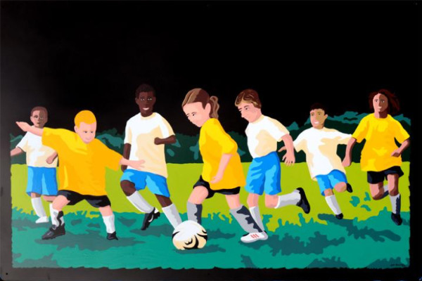 Soccer Players by Kyle Banister