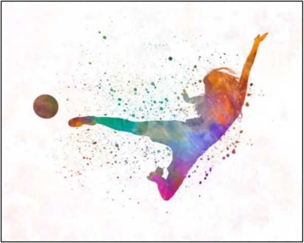 Woman Soccer Player 02 by Unknown
