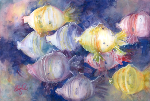 Swimming with the Fishes by Rebecca Zdybel