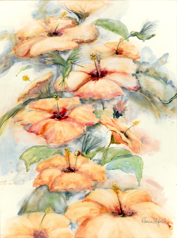 Humming in the Hibiscus by Rebecca Zdybel