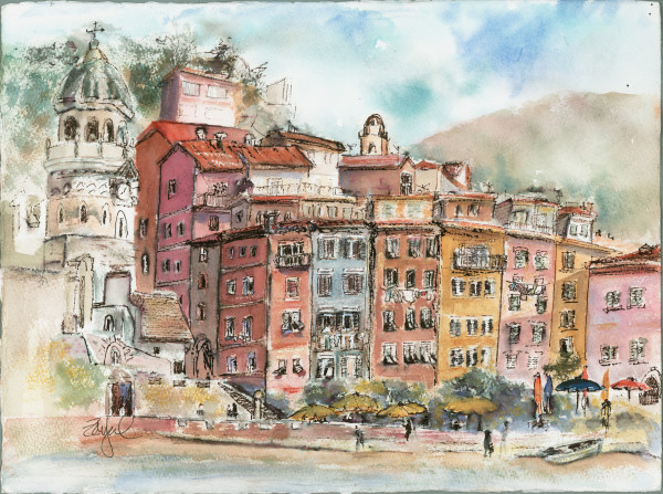 View of Vernazza by Rebecca Zdybel